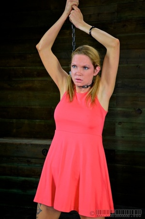 Pigtailed blonde slave gets enchained an - XXX Dessert - Picture 16