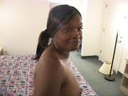 ponytailed ebony slut gets