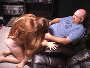 lustful busty fatso sucking