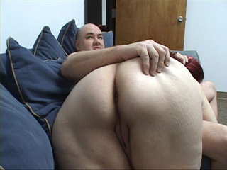 Dirty red fatso opens her back door for a cock - Picture 2