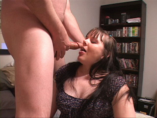 Brunette fat mom swallows cock before assfucking - Picture 1