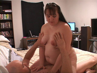 Brunette fat mom swallows cock before assfucking - Picture 4