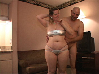 Busty blonde MILF in silver lingerie assfucked - Picture 2