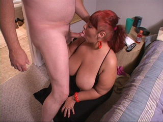 Busty ponytailed red mom sucks cock before assfucking - Picture 3