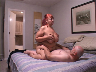 Busty red latina mom with fat ass rides cock with her - Picture 3