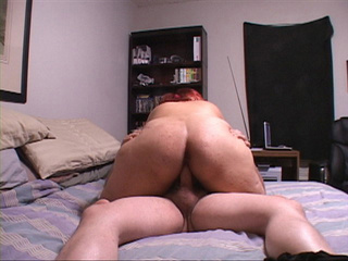 Busty red latina mom with fat ass rides cock with her - Picture 4