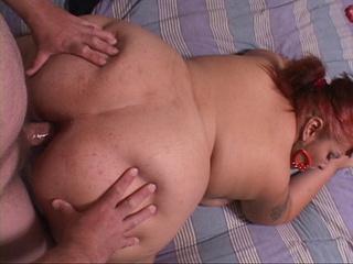 Red latina fatty ass doggystyled - Picture 4