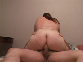 Fair-headed fatty gets her pooper drilled - Picture 1