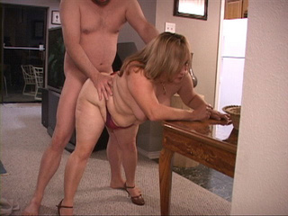 Chubby blonde mom gets doggystyled into ass - Picture 3