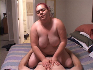 Pink-haired fat bitch gets her ass stuffed with  thick - Picture 4