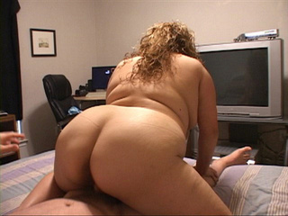 Busty big curly blonde mom jumping on a dick with her - Picture 3