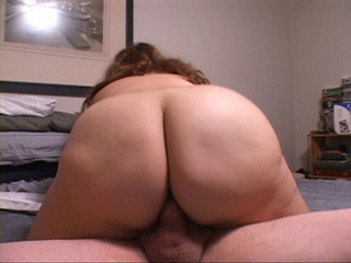 Fair-hared curly BBW riding stiff rod with her pooper - Picture 1