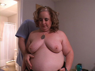 Fat blonde mature sucks cock before ass drilling - Picture 1