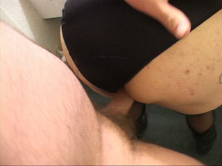 Old cunt in black body riding a stiff rod - Picture 3