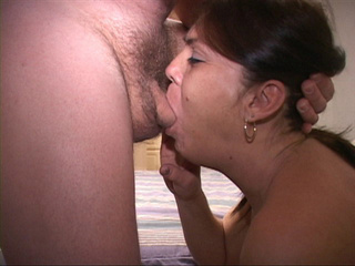 Ponytailed latina granny swallows meaty boner - Picture 2