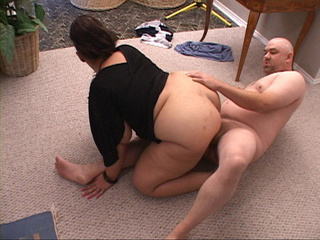 Lustful latina MILF in black blouse gets ass doggystyled - Picture 4