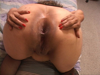 Fat ass Mexican granny takes facial after ass drilling - Picture 4