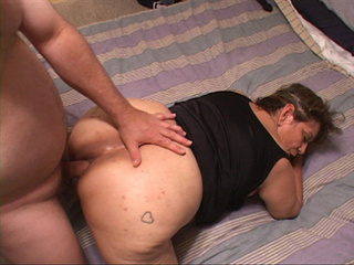 Big ass Mexican granny in stockings gets her butt - Picture 2