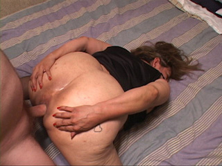 Big ass Mexican granny in stockings gets her butt - Picture 4