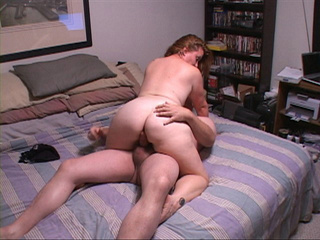 Red chubby MILF doggystyled into ass - Picture 1