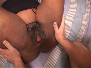Bald dude drilling fat black ass and shaggy twat - Picture 1
