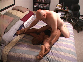 Bald dude drilling fat black ass and shaggy twat - Picture 3