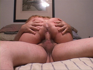 Chubby blonde loves cockriding with her butthole - Picture 1
