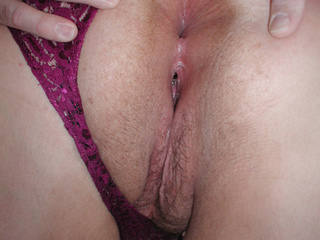 Enormous brunette mom in purple gets assfucked - Picture 3