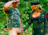 Blonde in military uniform assfucked with toys…