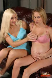 blonde slut pregnant friend