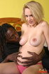 Horny black guy creampies pussy of his heavy with…