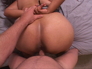 Dude cumming onto fat ass after anal fucking with latina - Picture 3