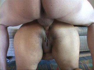 Curly latina with fat butt gagging with cock - Picture 1