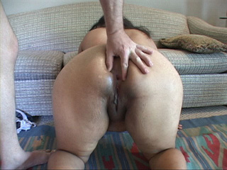 Curly latina with fat butt gagging with cock - Picture 3