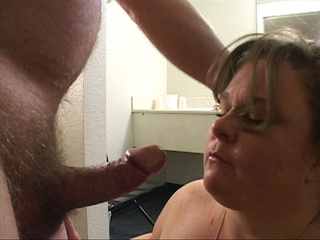 Nasty fatty with fair hair loves cocksucking - Picture 3