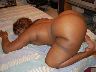 Black BBW assfucked in doggy style - Picture 2