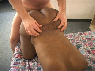 Ponytailed black bitch in beads mouth and ass fucked - Picture 4