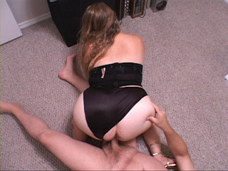 Plump blonde mom in black lingerie doggystyled at the - Picture 3
