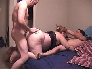 Two dudes handling fat rd granny - Picture 1