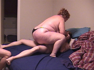 Ponytailed granny in black panties sucks cock - Picture 2