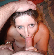 chubby blonde housewife swallows