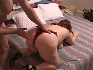 Fat red bitch in panties doggystyled - Picture 4