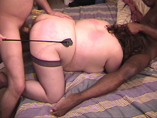 Brunette fatty in stockings spanked before fucking - Picture 3