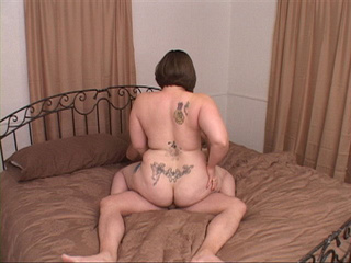 Tattooed bitch with huge tits and ass jumps on cock - Picture 3
