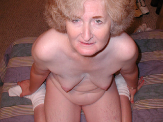 Two old-bitches-lovers fucking small-titted granny - Picture 1