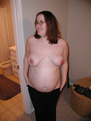 Naked bbw with glasses