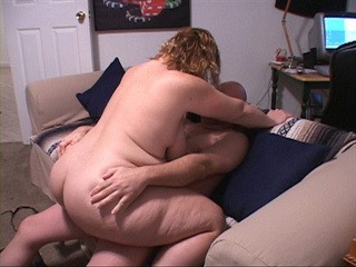 Curly BBW with huge titties riding man's meat - Picture 2