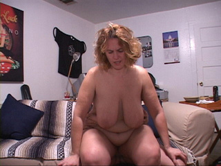Curly BBW with huge titties riding man's meat - Picture 3