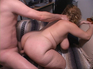Curly BBW with huge titties riding man's meat - Picture 4