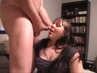 Plump brunette babe undresses for hard assbanging - Picture 1